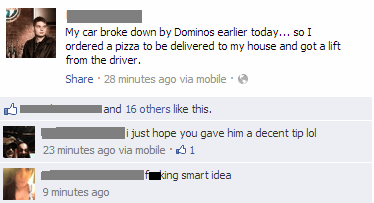 dominos,pizza delivery,smart,failbook,g rated
