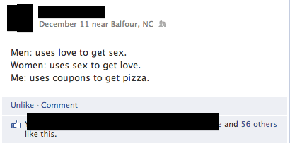 sex,pizza,coupons