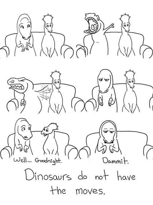 they try,the moves,dinosaurs,t rex