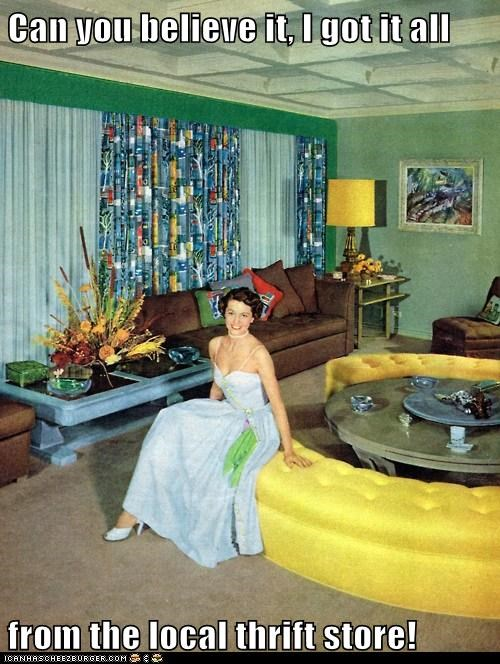 living room retro decor technicolor - 6897775360