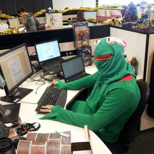 kermit the frog Office costume - 6897835776