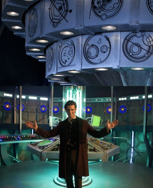 interior gallifreyan the doctor new tardis Matt Smith writing - 6897913344