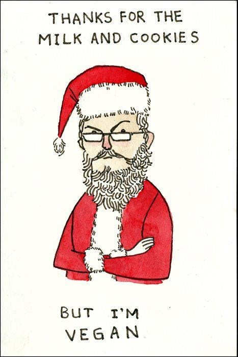 christmas hipster comic santa illustration funny holidays - 6897932544