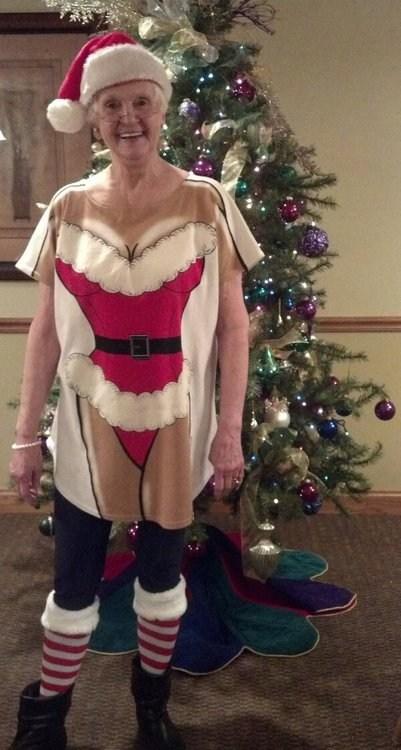 grandma santa sexy poorly dressed - 6898119680