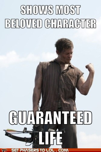 life guaranteed daryl dixon success norman reedus beloved The Walking Dead - 6898201600