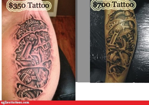 good vs bad tattoos,gears