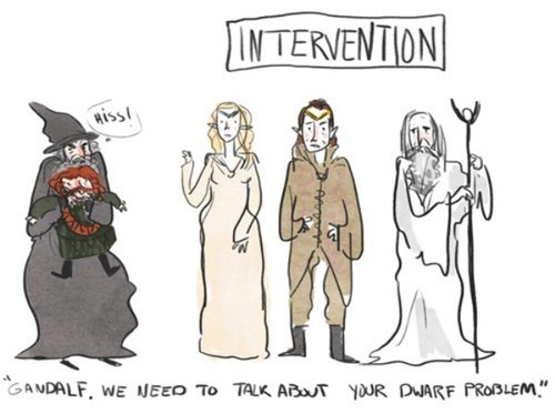saruman intervention elrond galadriel dwarves Fan Art gandalf The Hobbit comic - 6898206976
