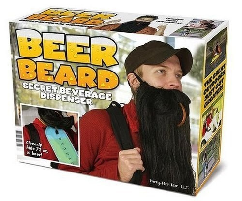 sloshed swag,beer beard,beverage dispenser,nobody will know