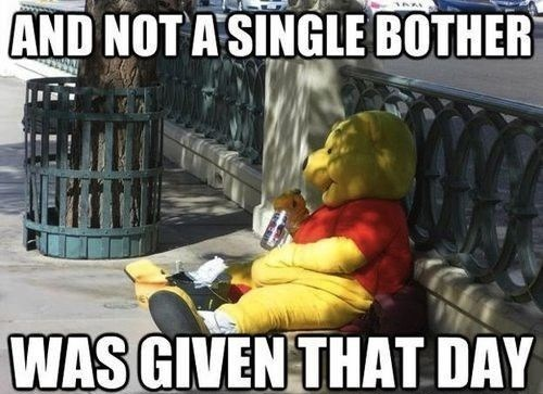 Winnie's Had it Rough Ever Since Christopher Robin Left