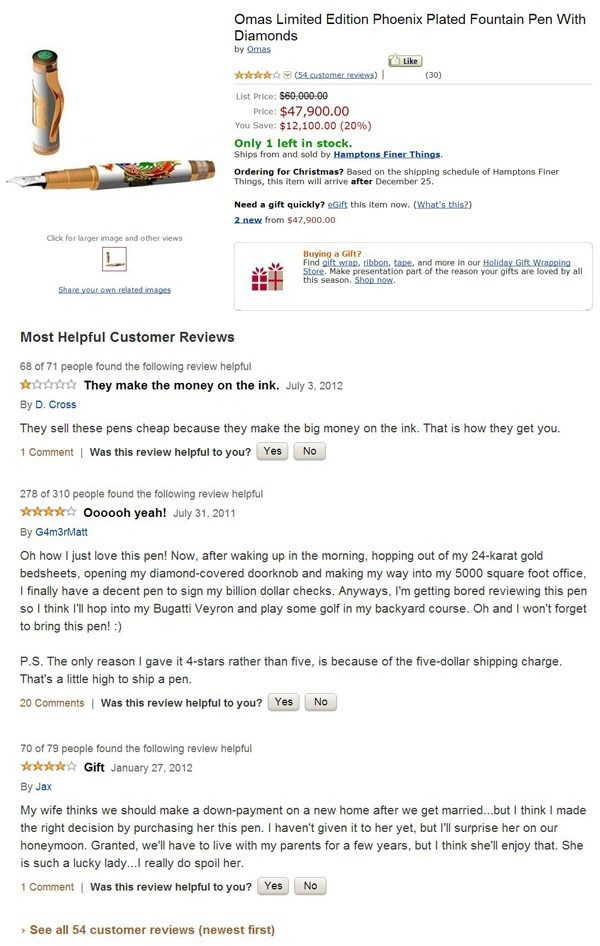 reviews,amazon,diamonds,rich