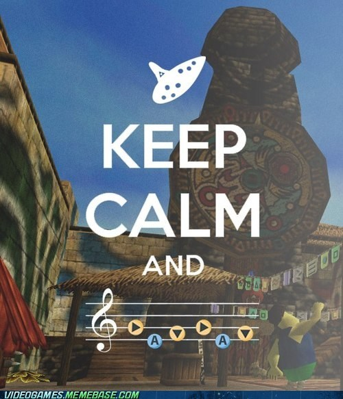 end of the world song of time majoras mask zelda keep calm