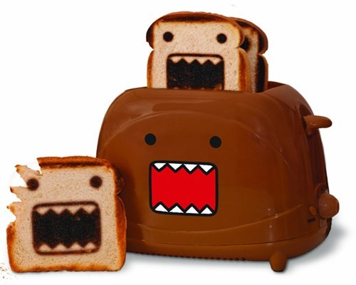 breakfast,domo,toast,domokun,toaster