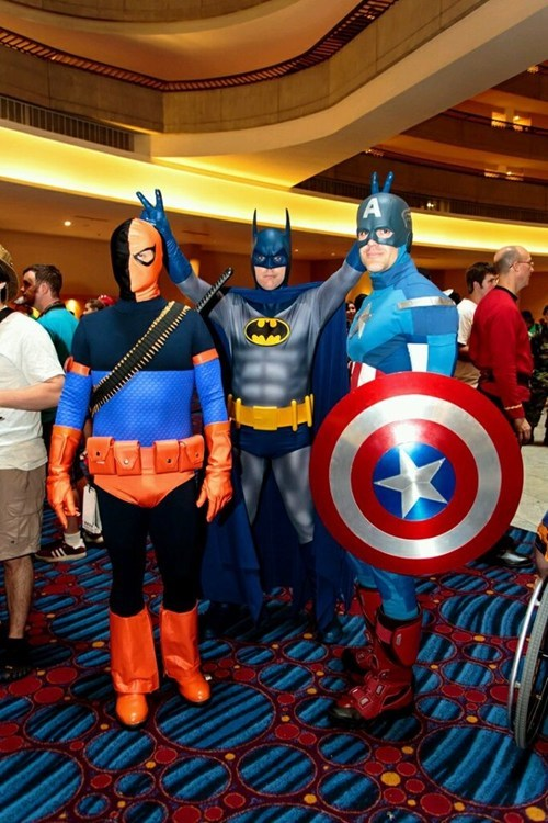 rabbit ears,costume,captain america,superheroes,batman