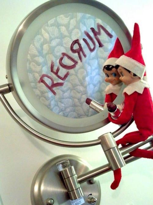 elf on the shelf creepy santa holidays - 6898662656