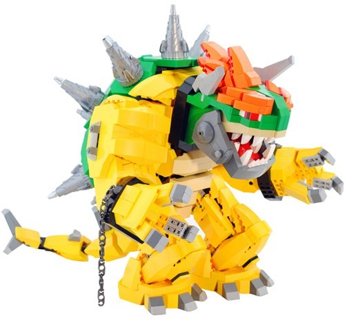 lego nerdgasm bowser video games Super Mario bros - 6898678272
