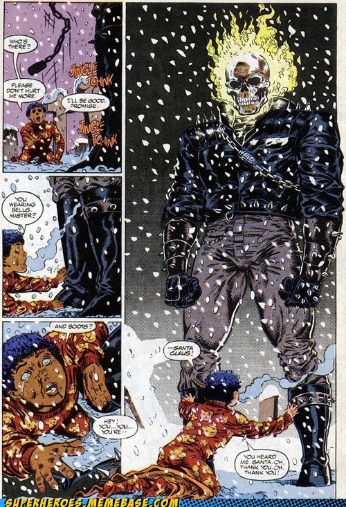 ghost rider,off the page,santa