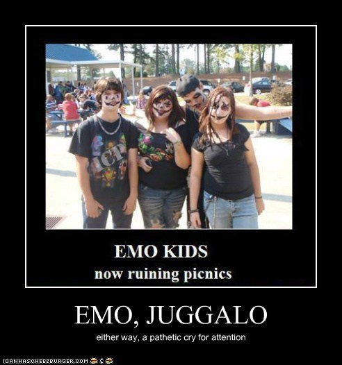 EMO, JUGGALO either way, a pathetic cry for attention