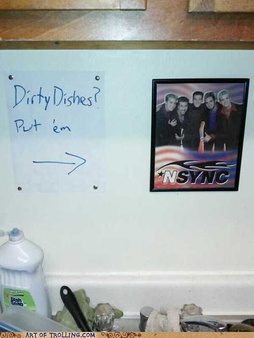 dishwasher,dirty dishes,nsync