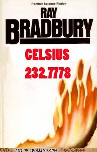 bargain books,fahrenheit 451,ray bradbury,celsuis,europeans