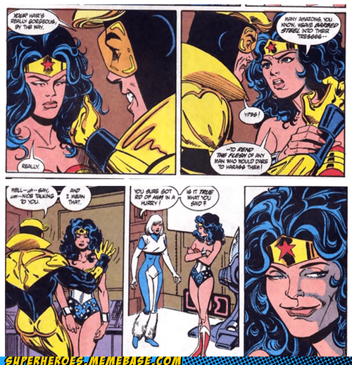 And so Wonder Woman invented the troll face.