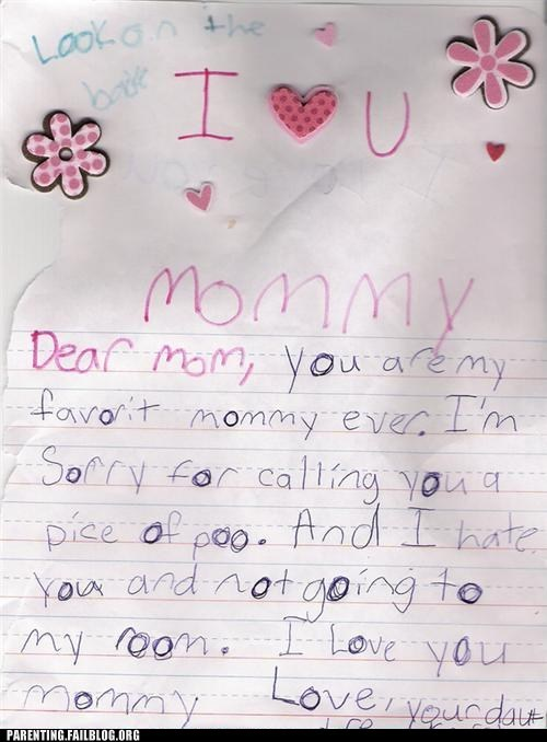 childrens-writing letter to mom apology g rated Parenting FAILS