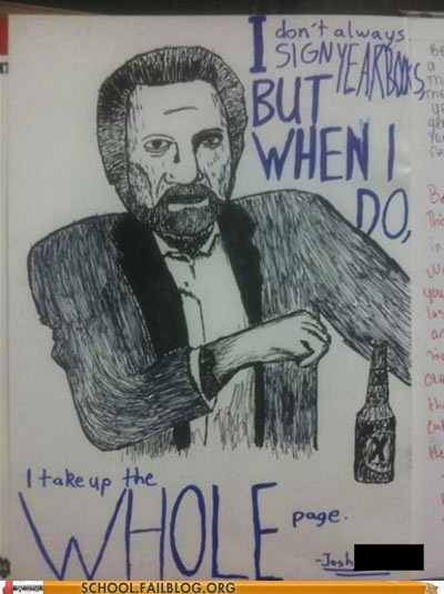 most interesting man,year book
