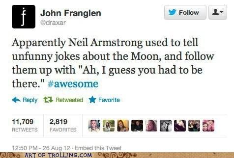 twitter,inside joke,moon,astronaut,neil armstrong