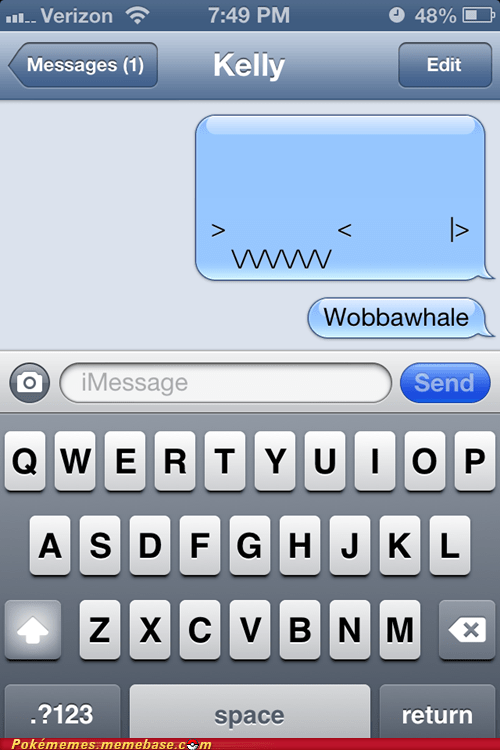 wobbuffet texting sms - 6899580160