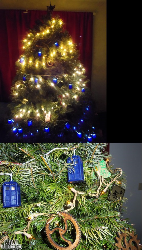 christmas,christmas tree,nerdgasm,doctor who