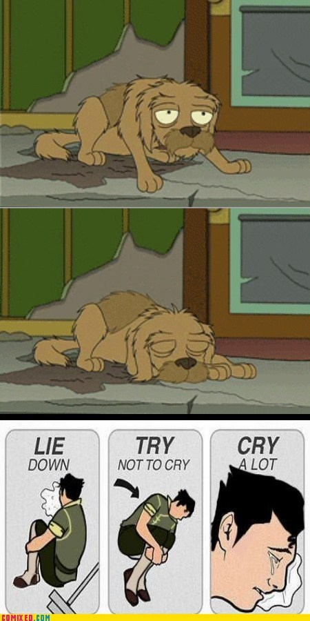 saddest,try not to cry,jurassic bark,TV,futurama,dogs
