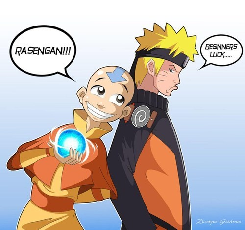 crossover Avatar the Last Airbender naruto cartoons - 6900422144