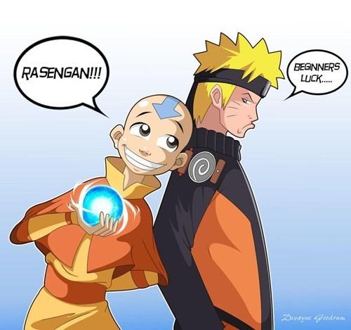 crossover Avatar the Last Airbender naruto cartoons - 6900422144
