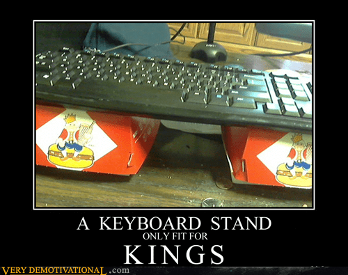 keyboard stand,whopper,burger king