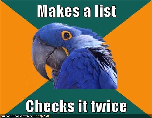 list,jingle memes,Paranoid Parrot