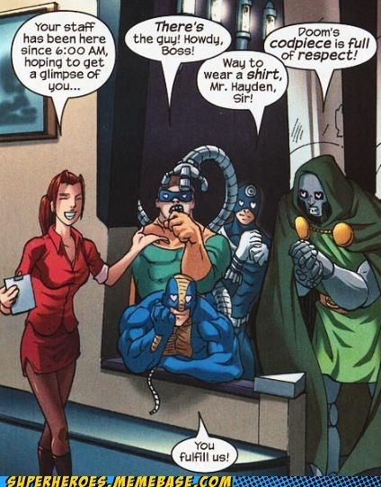 respect,doc ock,dr doom