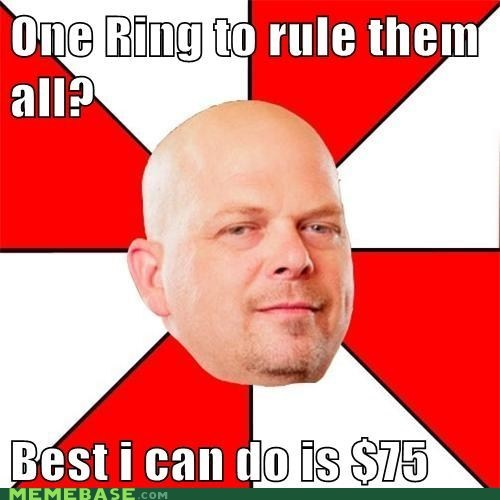 one ring,The Hobbit,pawn stars