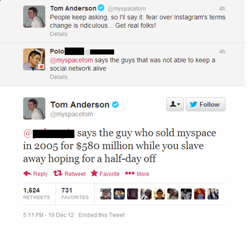 sassy tom tom anderson myspace myspacetom failbook