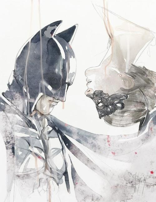 art awesome catwoman watercolor batman - 6901136128