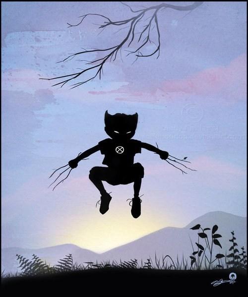 art,kids,imagination,wolverine