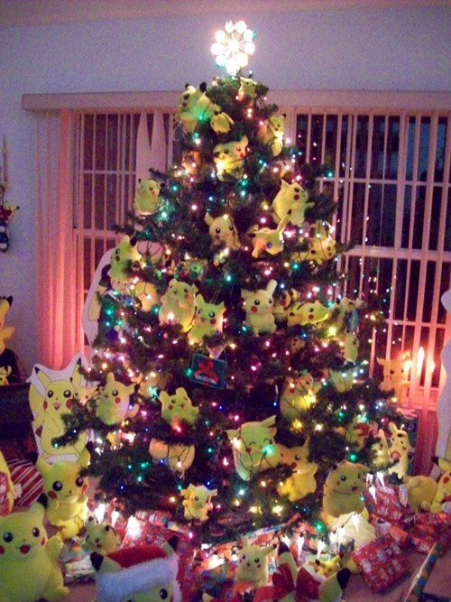 IRL christmas tree cute pikachu
