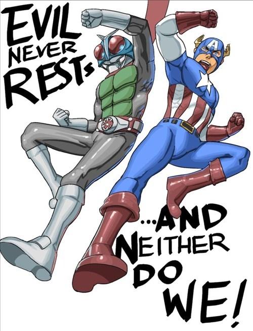 justice,art,captain america,kamen rider