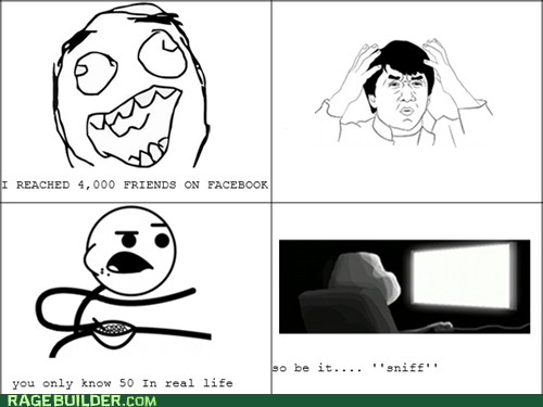 cereal guy,forever alone,facebook friends,Jackie Chan
