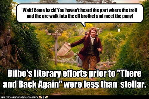 bad Martin Freeman reading orc Bilbo Baggins novel chasing troll - 6901457920