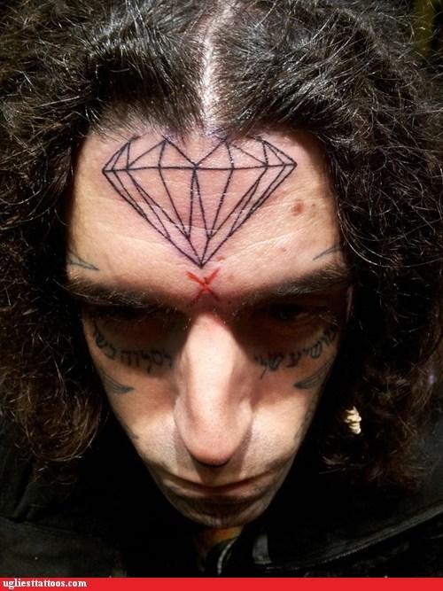 face tattoos diamond - 6901487872