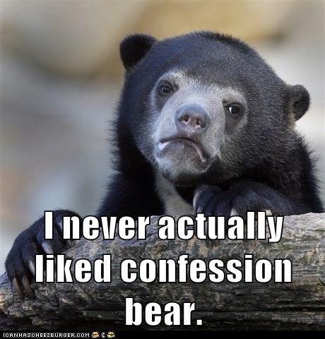 confessions meta Confession Bear - 6901525760