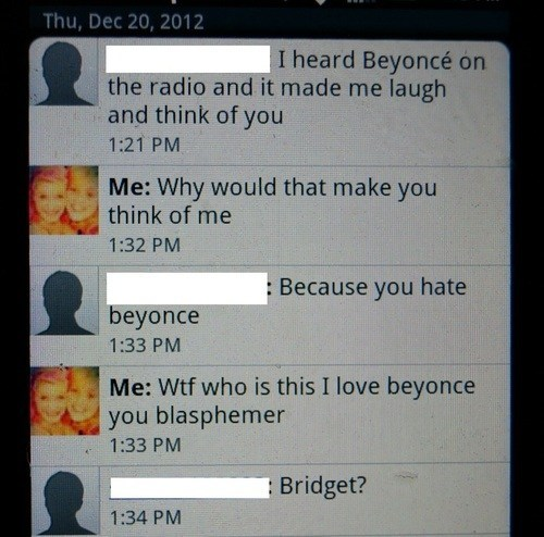 wrong number,beyoncé,laughing