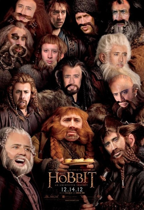 face,dwarves,The Hobbit,nicolas cage