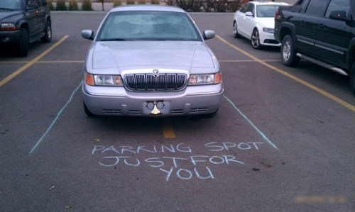 douchebag parkers,parking lot,cars,passive aggressive,parking,chalk
