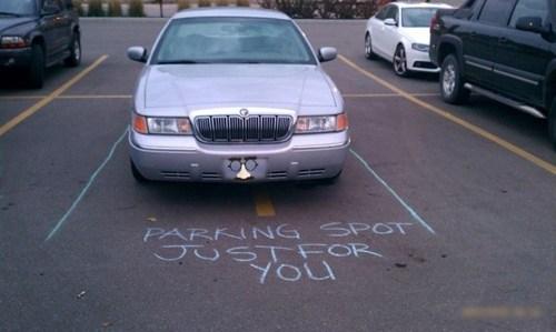 douchebag parkers parking lot cars passive aggressive parking chalk - 6901991424