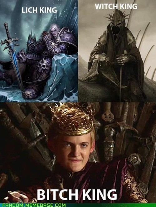 warcraft 3 Lord of the Rings lich king Game of Thrones Witch King